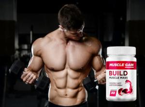 Muscle Gain kapsułki, składniki, jak zażywać, jak to działa, skutki uboczne